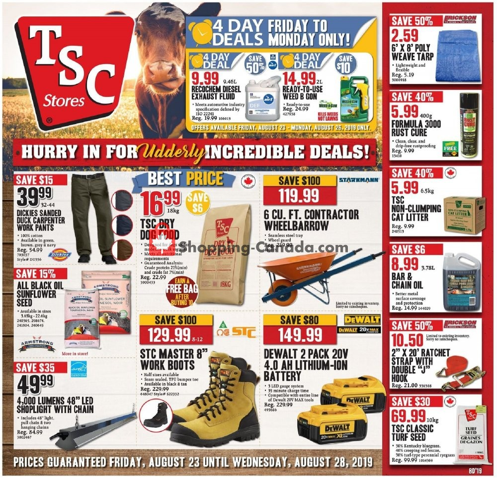 Flyer and weekly ads: TSC Stores Canada - (Incredible Deals