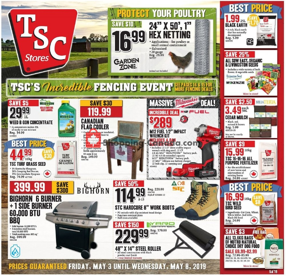 Flyer TSC Stores Canada - from Friday May 3, 2019 to Wednesday May 8, 2019