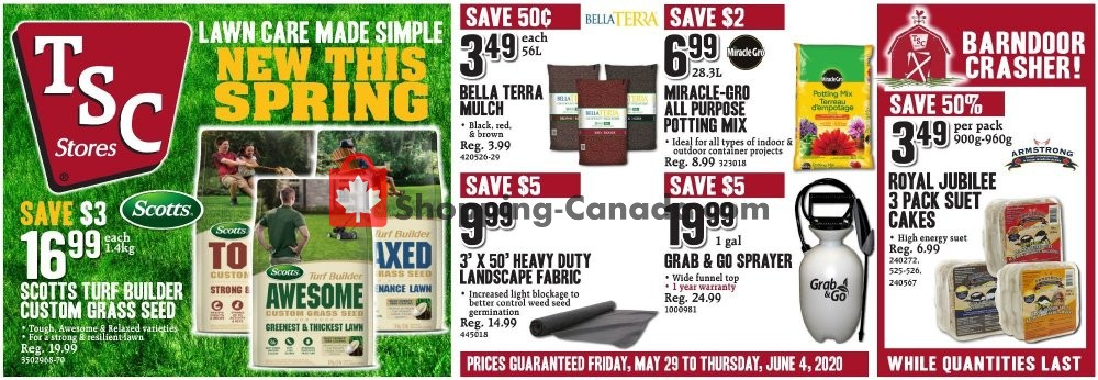 Flyer TSC Stores Canada - from Friday May 29, 2020 to Wednesday June 3, 2020