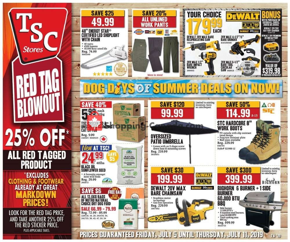 Flyer TSC Stores Canada - from Friday July 5, 2019 to Thursday July 11, 2019