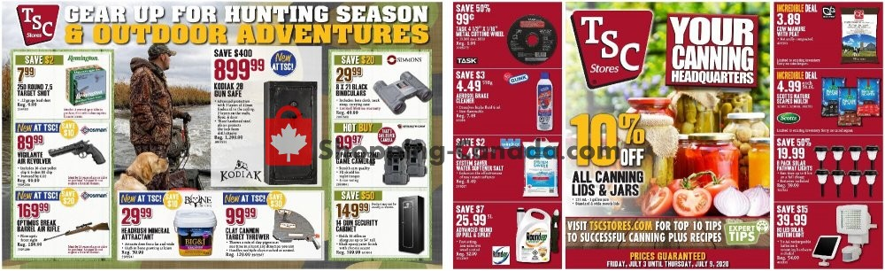 Flyer TSC Stores Canada - from Friday July 3, 2020 to Thursday July 9, 2020
