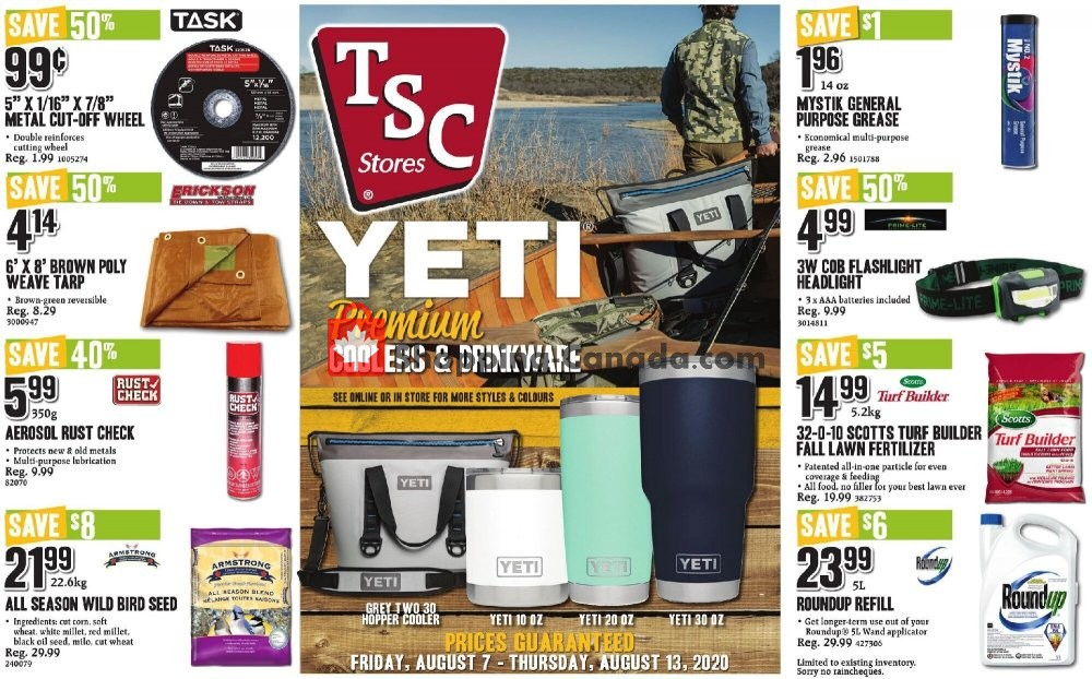 Flyer TSC Stores Canada - from Friday August 7, 2020 to Thursday August 13, 2020