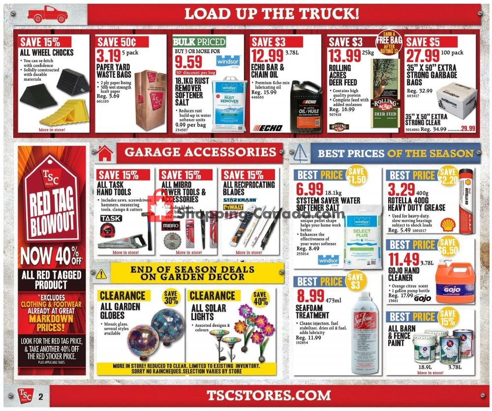 Flyer TSC Stores Canada - from Friday August 9, 2019 to Thursday August 15, 2019