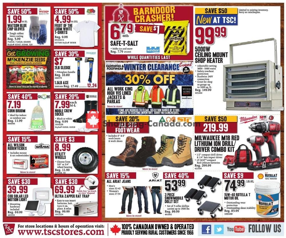 Flyer TSC Stores Canada - from Friday January 10, 2020 to Thursday January 16, 2020
