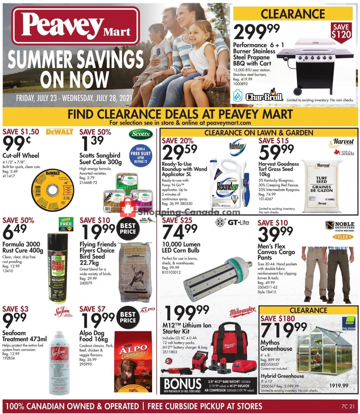 Flyer TSC Stores Canada - from Friday July 23, 2021 to Thursday July 29, 2021