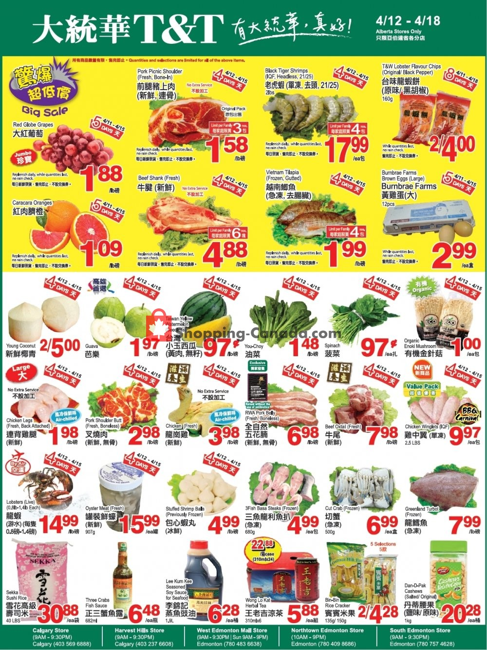 Flyer T&T Supermarket Canada - from Friday April 12, 2019 to Thursday April 18, 2019