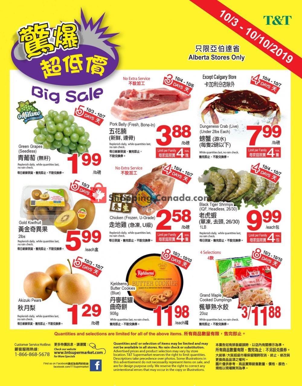 Flyer T&T Supermarket Canada - from Thursday October 3, 2019 to Thursday October 10, 2019