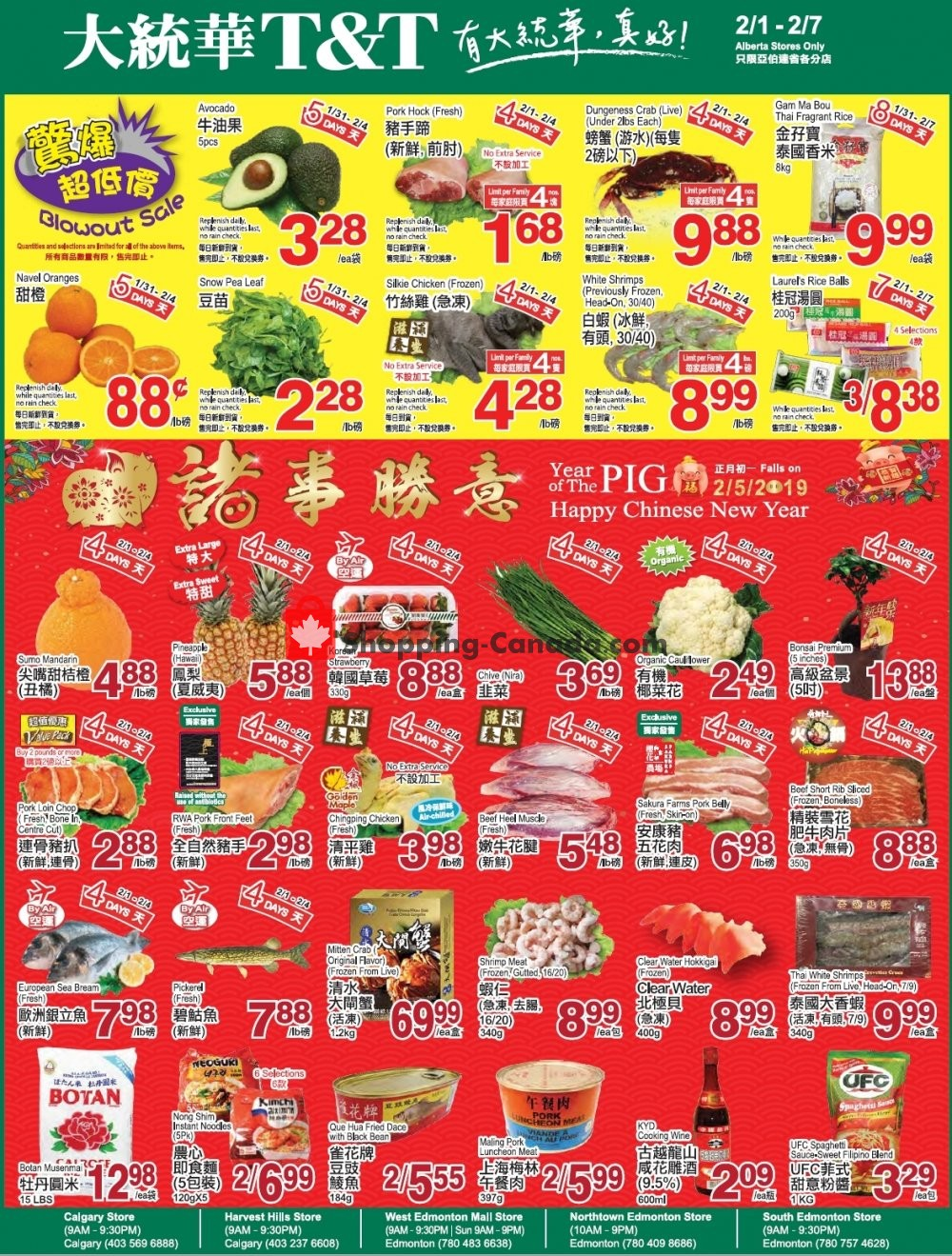 Flyer T&T Supermarket Canada - from Friday February 1, 2019 to Thursday February 7, 2019