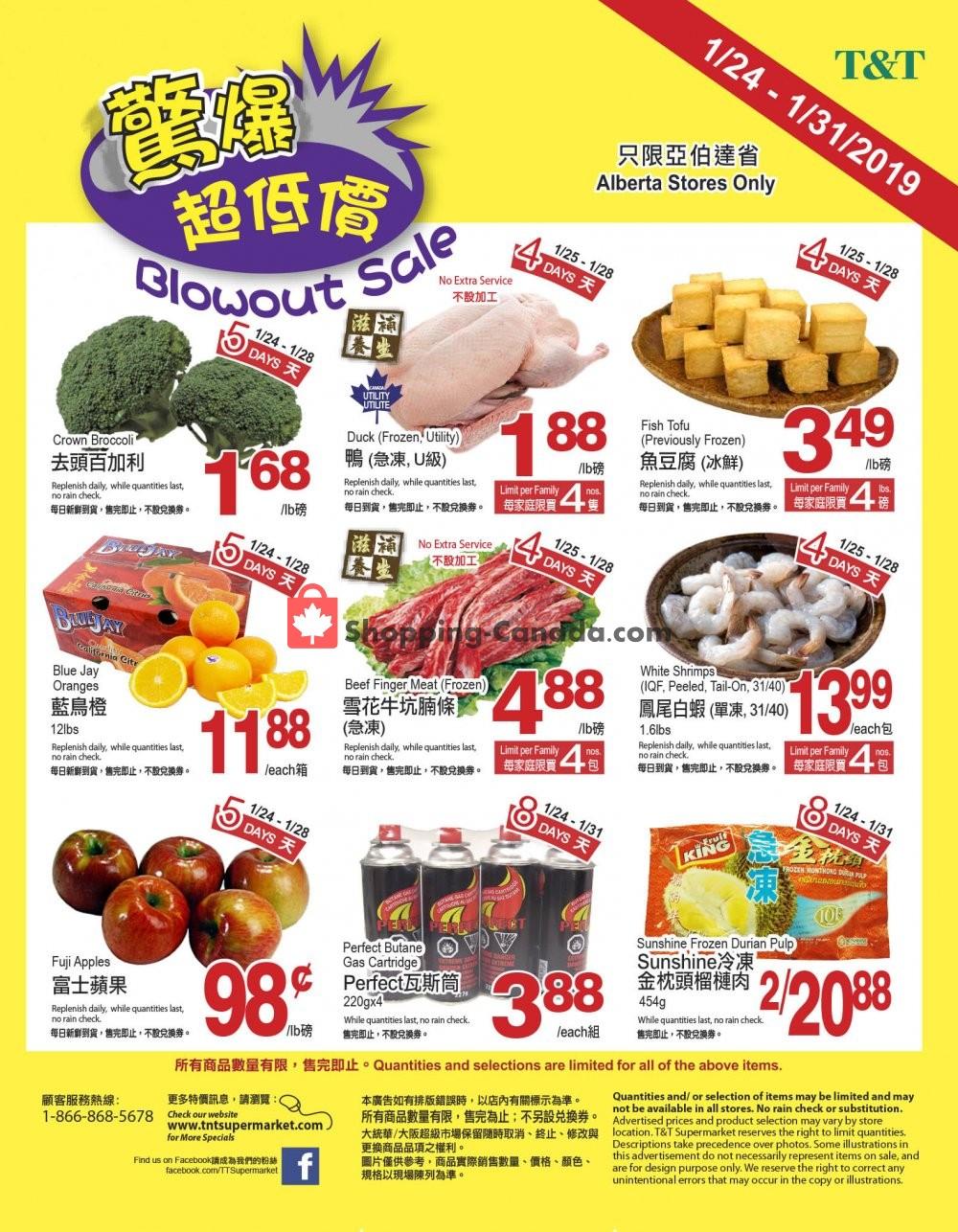 Flyer T&T Supermarket Canada - from Thursday January 24, 2019 to Thursday January 31, 2019