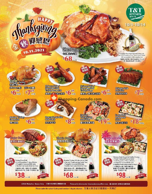 Flyer T&T Supermarket Canada - from Friday October 1, 2021 to Thursday October 14, 2021