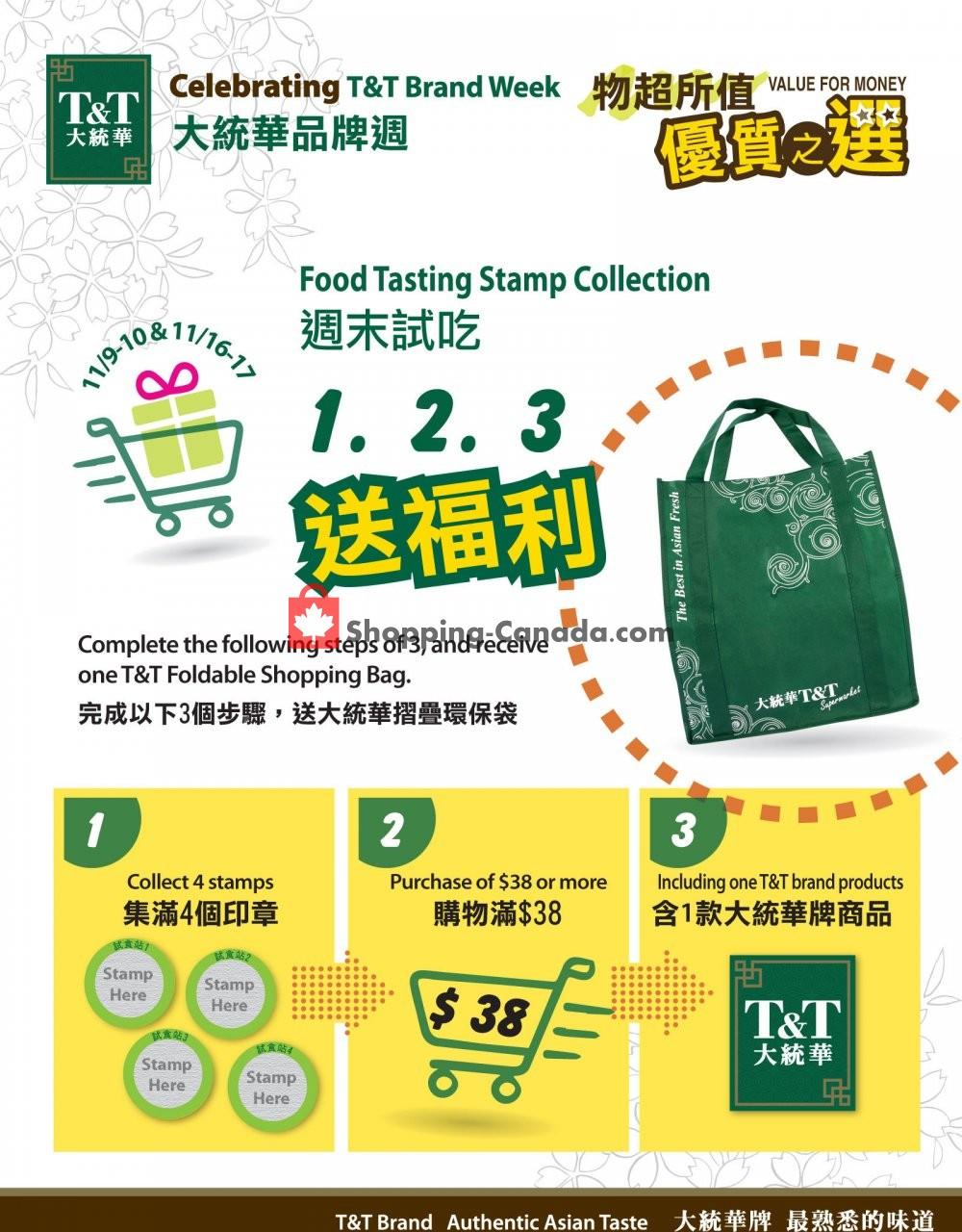 Flyer T&T Supermarket Canada - from Saturday November 9, 2019 to Sunday November 17, 2019