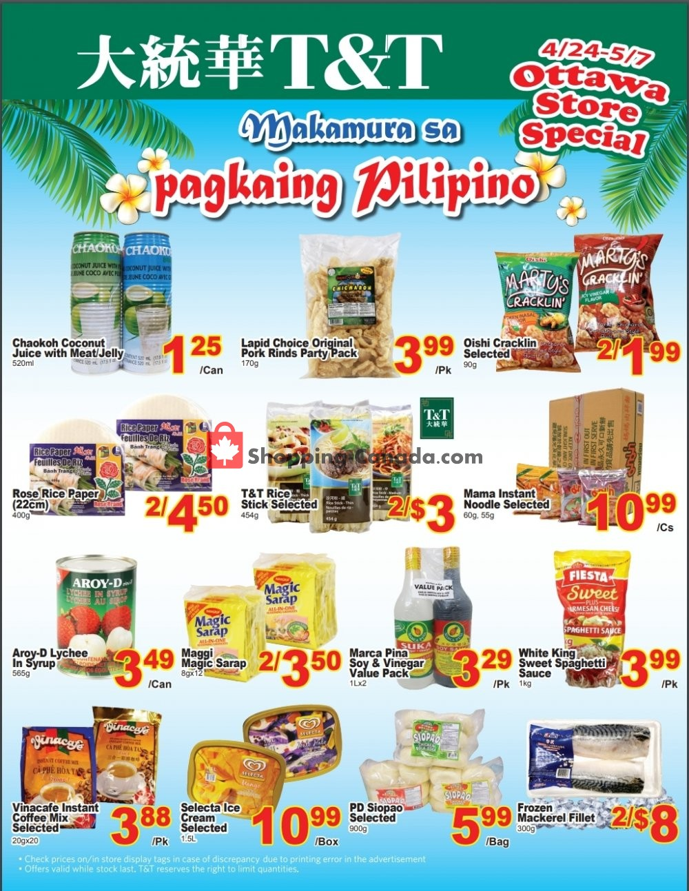Flyer T&T Supermarket Canada - from Friday April 24, 2020 to Thursday May 7, 2020