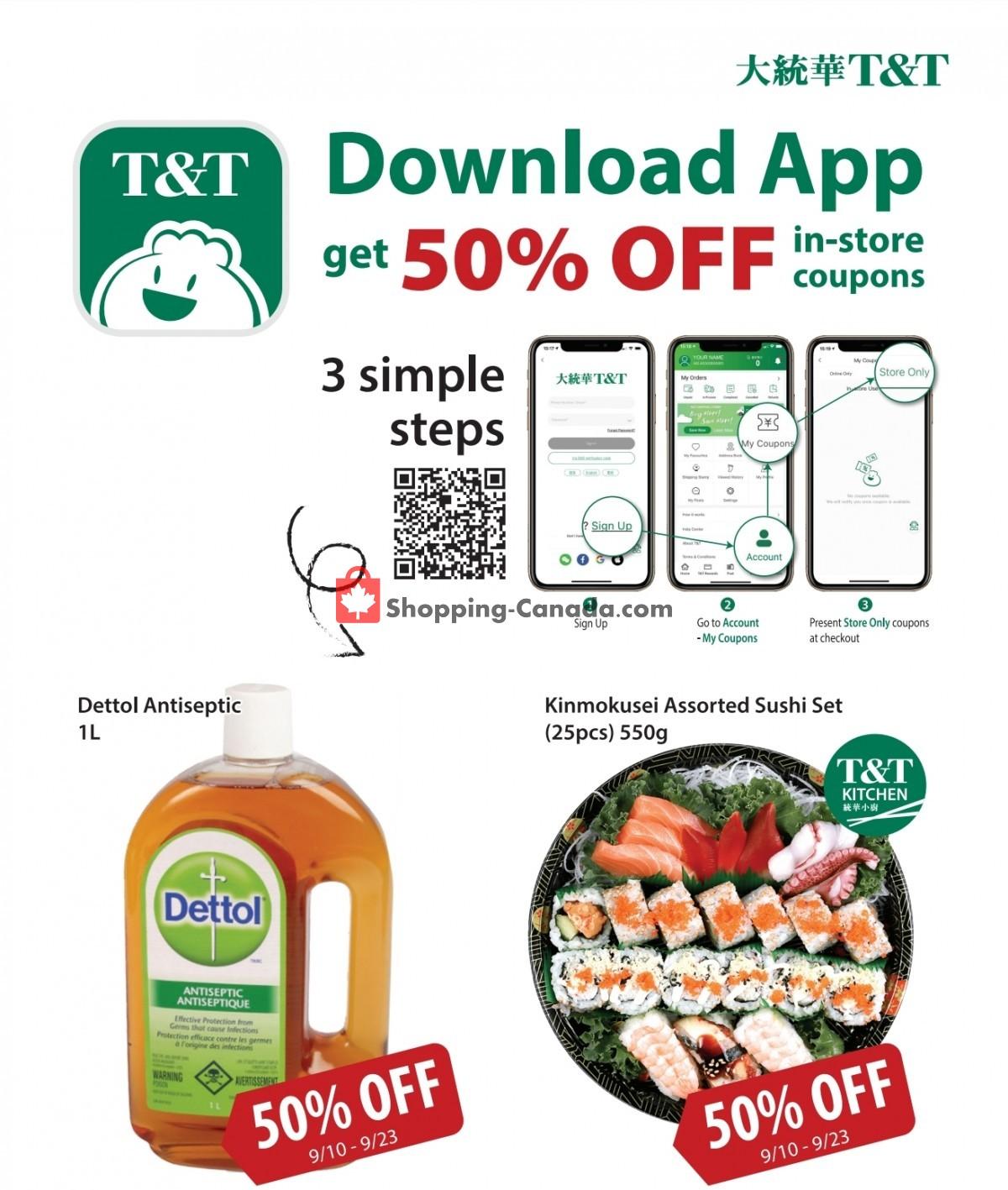 Flyer T&T Supermarket Canada - from Friday September 10, 2021 to Thursday September 23, 2021