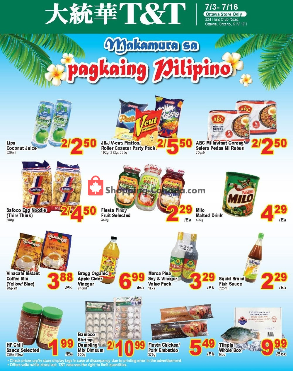 Flyer T&T Supermarket Canada - from Friday July 3, 2020 to Thursday July 16, 2020