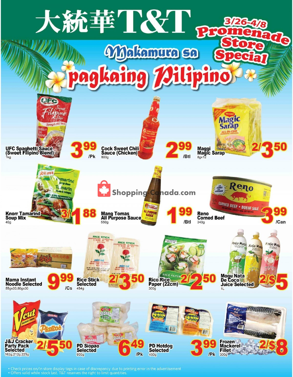 Flyer T&T Supermarket Canada - from Friday March 26, 2021 to Thursday April 8, 2021