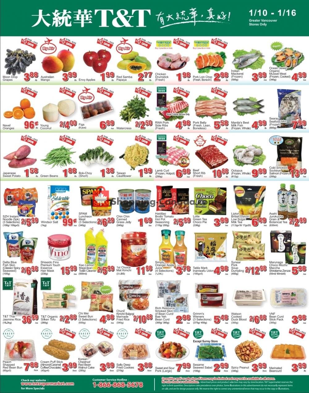 Flyer T&T Supermarket Canada - from Friday January 10, 2020 to Thursday January 16, 2020