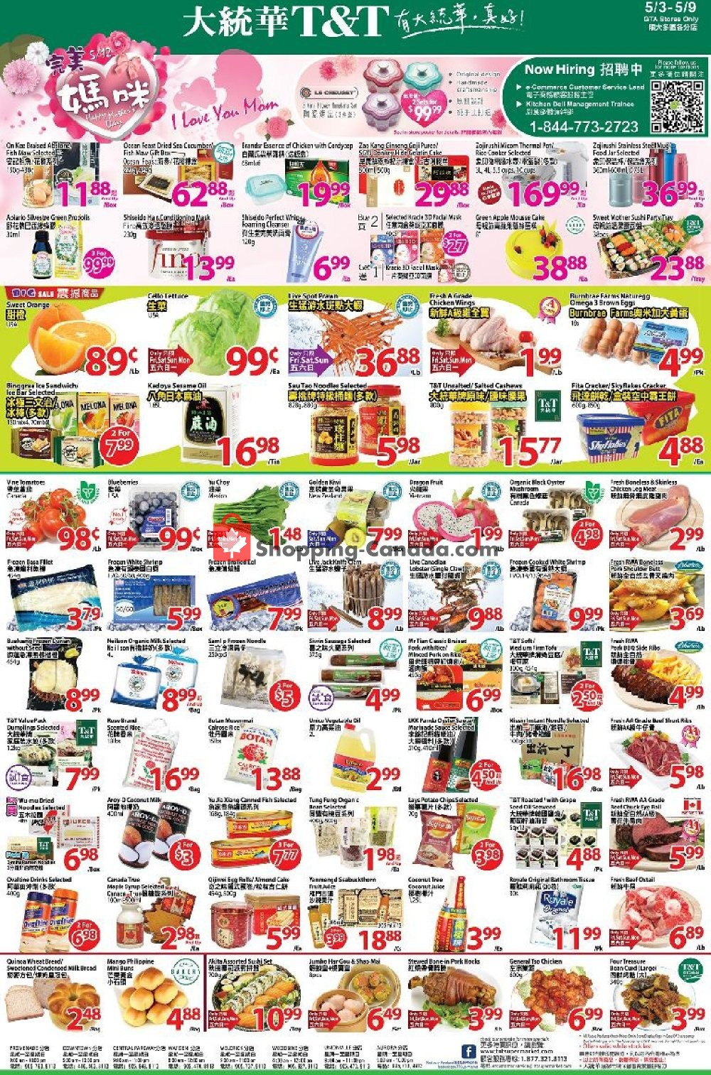 Flyer T&T Supermarket Canada - from Friday May 3, 2019 to Thursday May 9, 2019