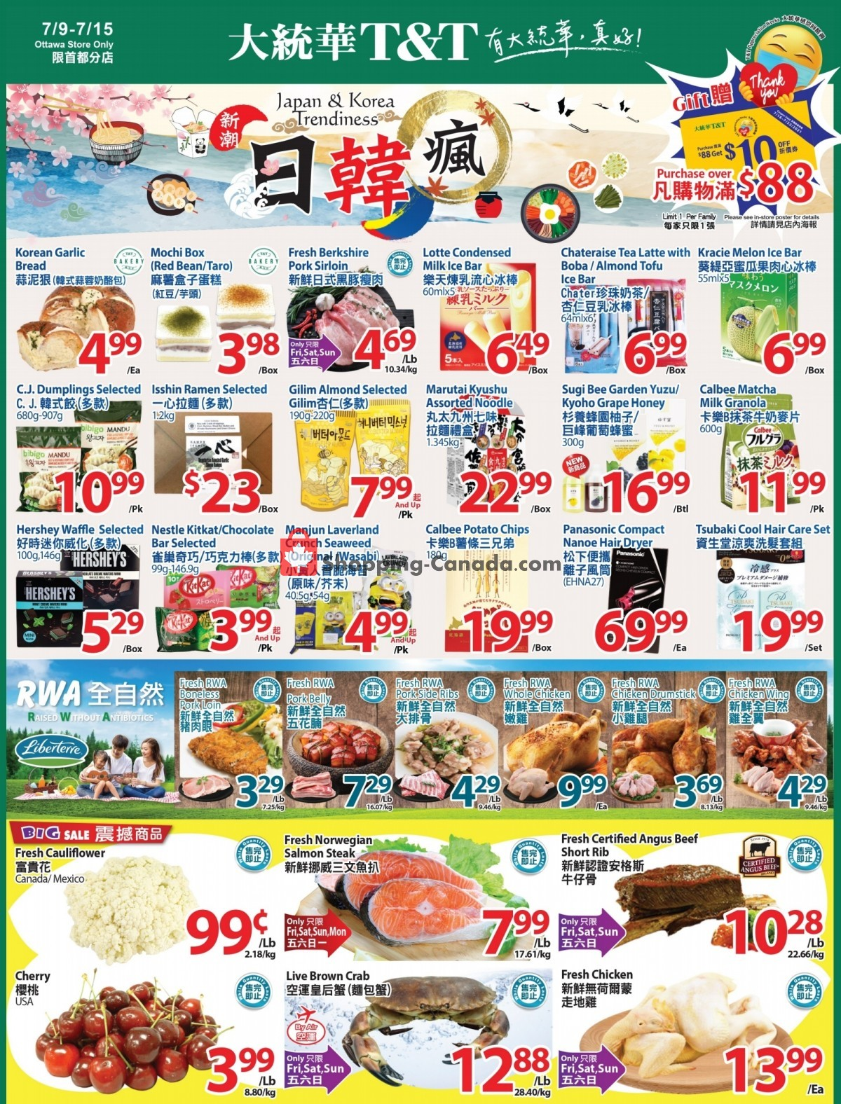 Flyer T&T Supermarket Canada - from Friday July 9, 2021 to Thursday July 15, 2021