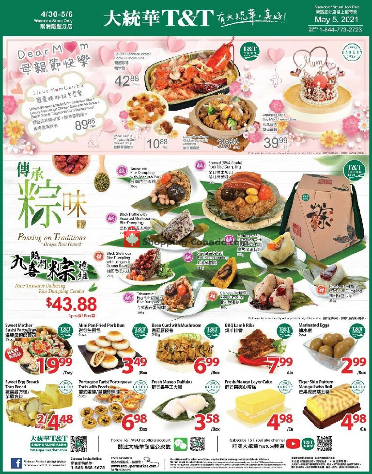 Flyer T&T Supermarket Canada - from Friday April 30, 2021 to Thursday May 6, 2021