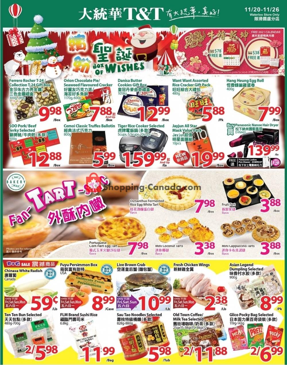 Flyer T&T Supermarket Canada - from Friday November 20, 2020 to Thursday November 26, 2020