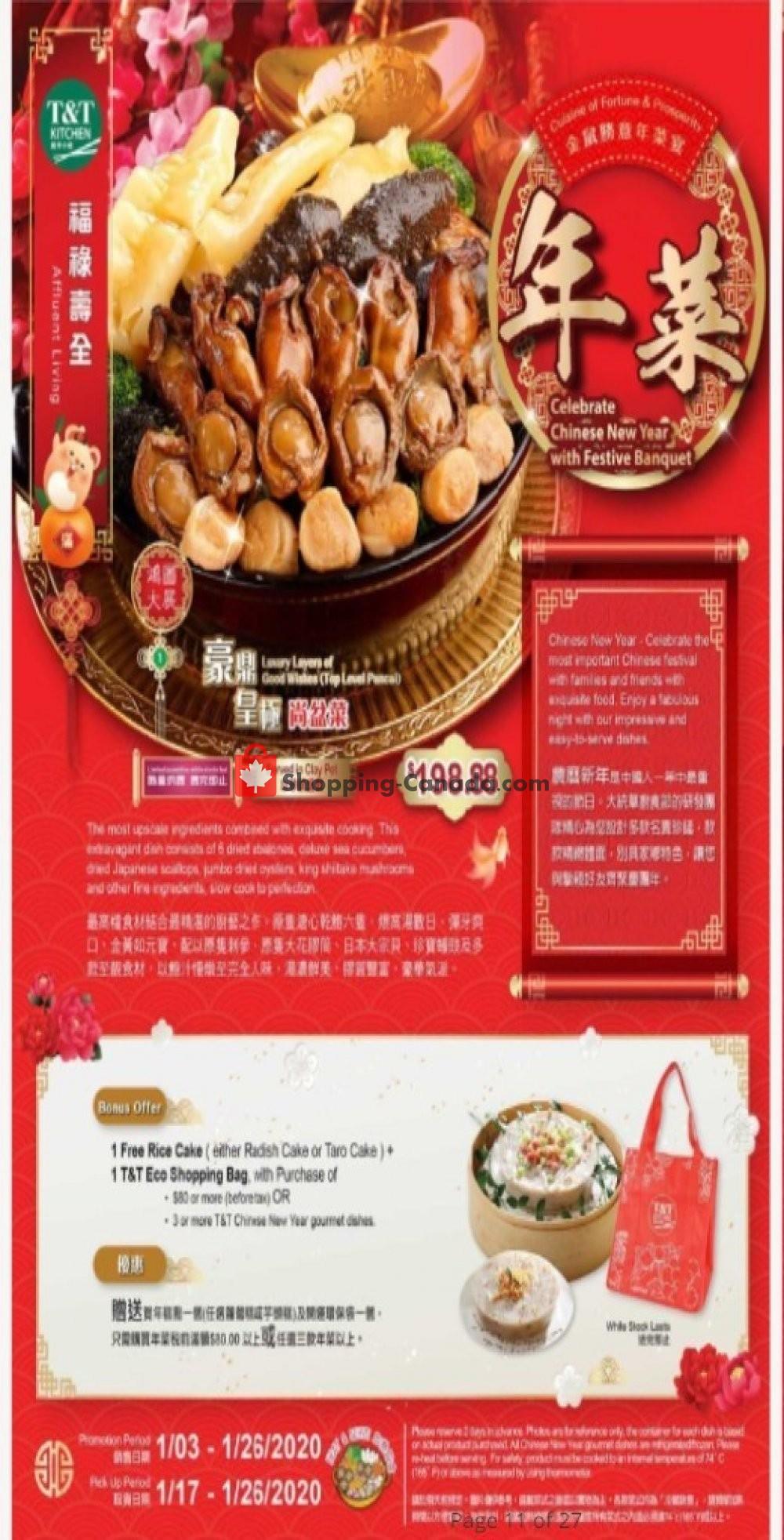 Flyer T&T Supermarket Canada - from Friday January 3, 2020 to Saturday January 25, 2020