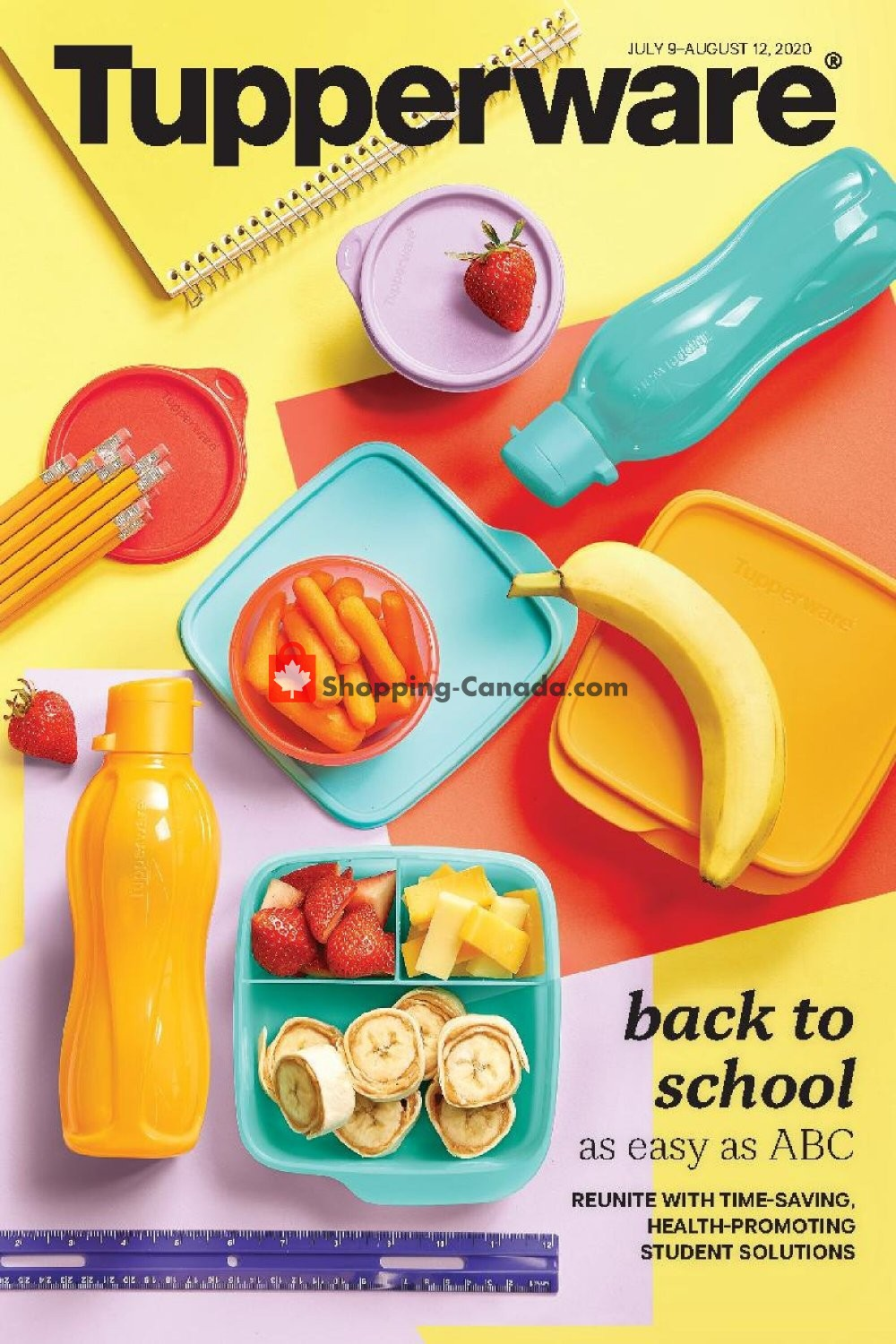 Flyer Tupperware  Canada - from Thursday July 9, 2020 to Wednesday August 12, 2020