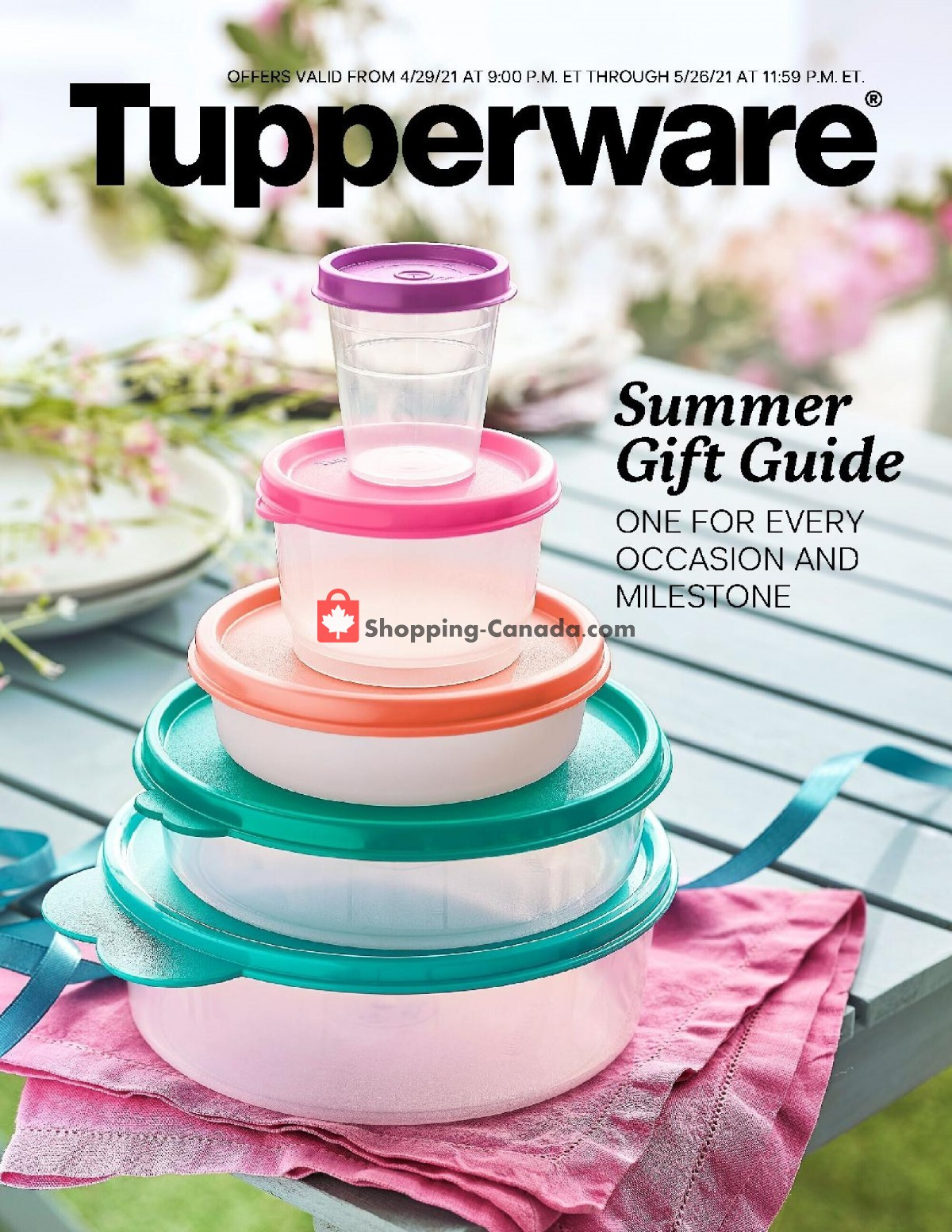Flyer Tupperware  Canada - from Thursday April 29, 2021 to Wednesday May 26, 2021