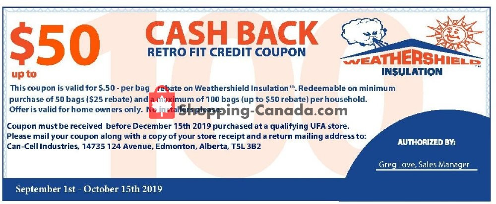Flyer UFA Canada - from Sunday September 1, 2019 to Tuesday October 15, 2019