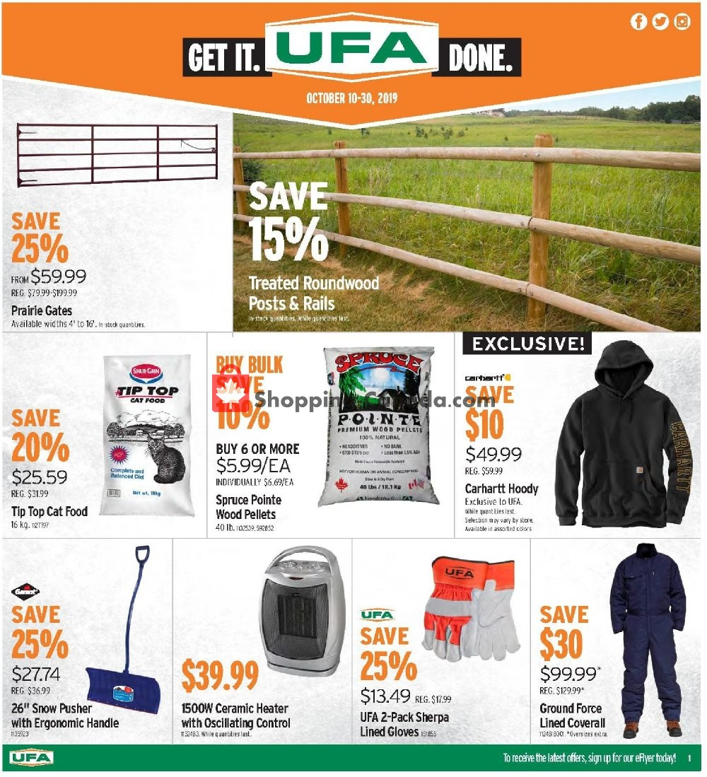 Flyer UFA Canada - from Thursday October 10, 2019 to Wednesday October 30, 2019