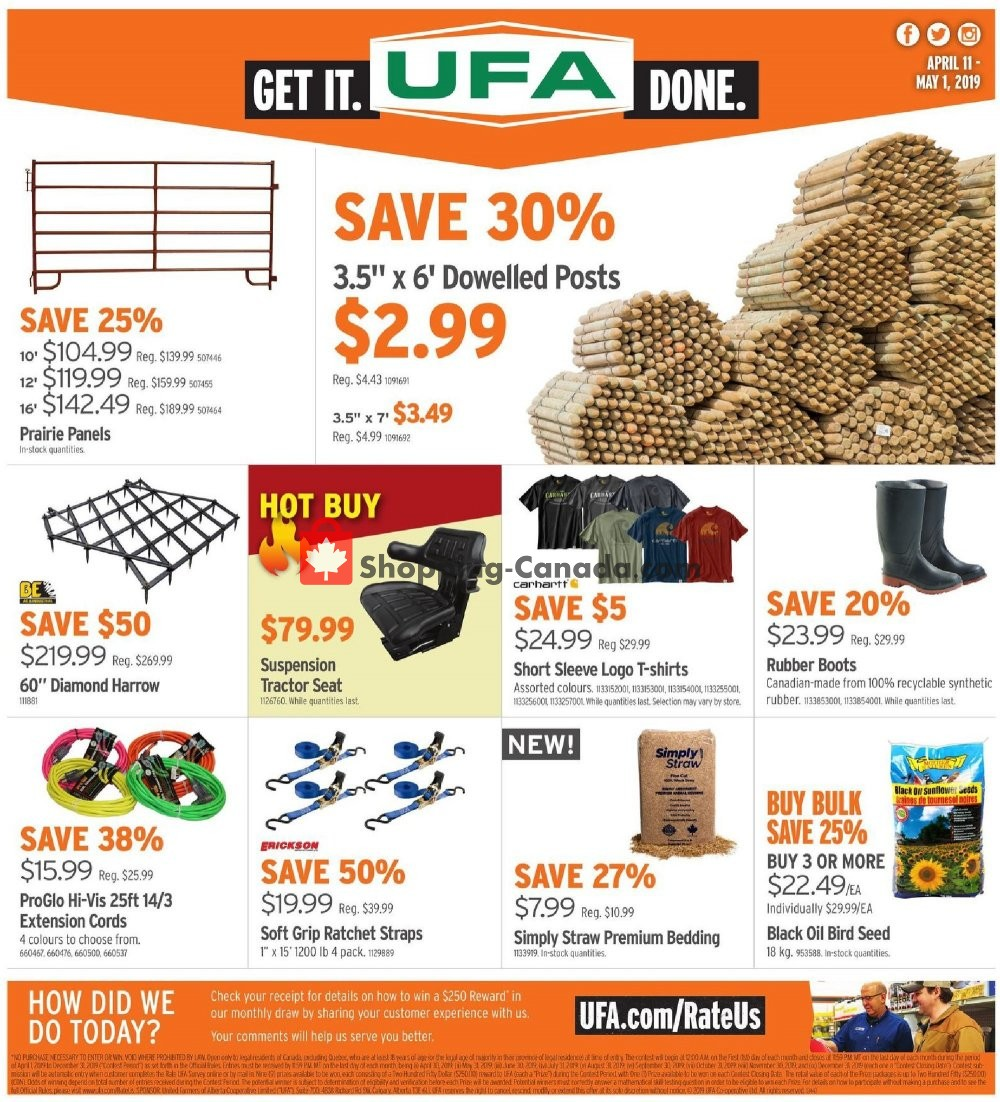 Flyer United Farmers Of Alberta Canada - from Thursday April 11, 2019 to Wednesday May 1, 2019