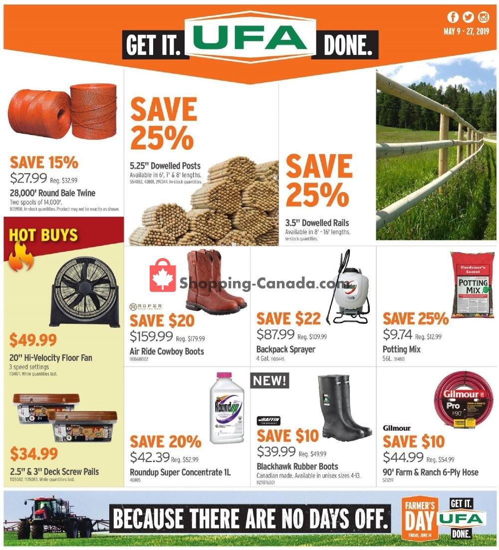 Flyer United Farmers Of Alberta Canada - from Thursday May 9, 2019 to Monday May 27, 2019