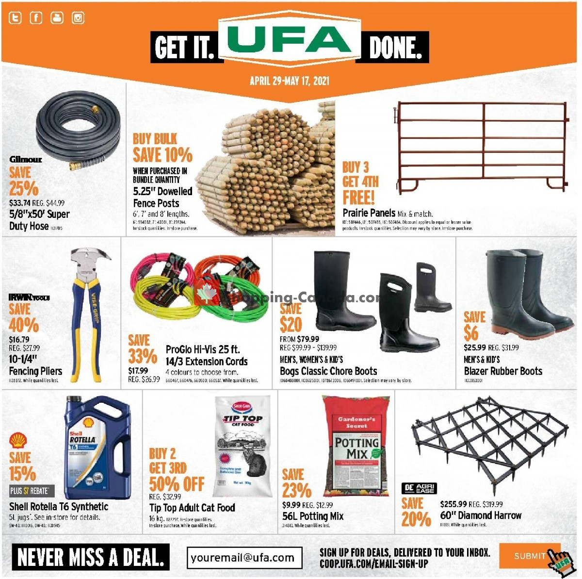 Flyer United Farmers Of Alberta Canada - from Thursday April 29, 2021 to Monday May 17, 2021