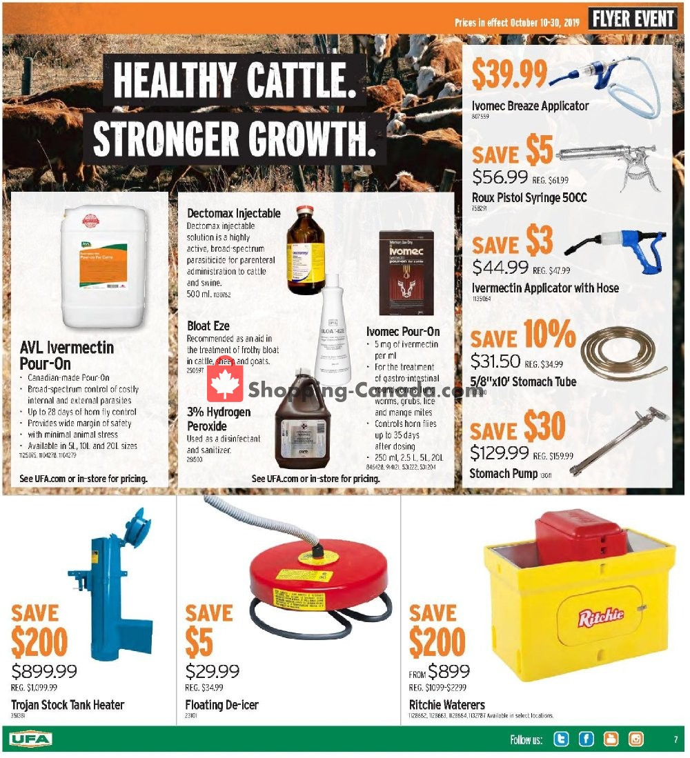 Flyer United Farmers Of Alberta Canada - from Thursday October 10, 2019 to Wednesday October 30, 2019