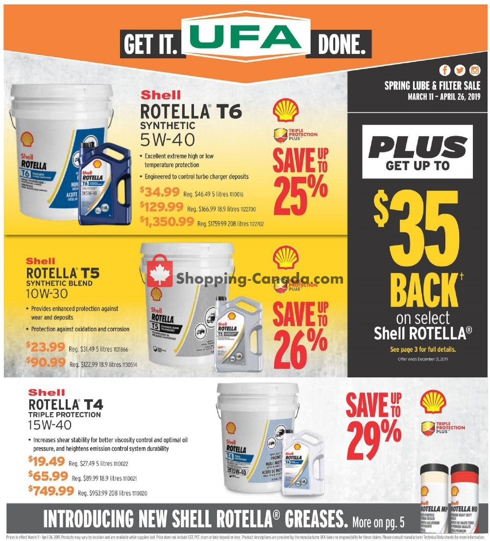 Flyer United Farmers Of Alberta Canada - from Thursday April 11, 2019 to Friday April 26, 2019