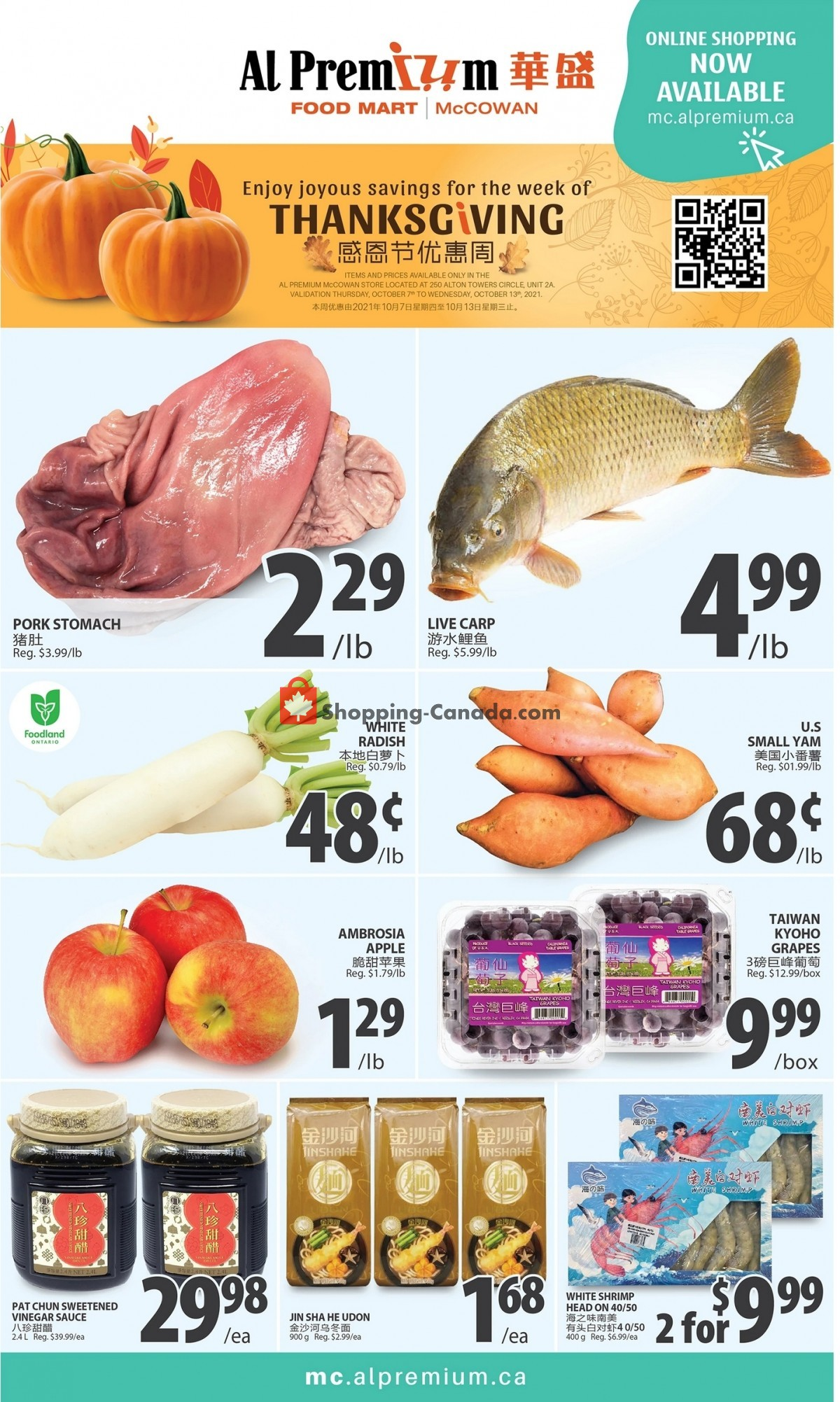 Flyer United Farmers Of Alberta Canada - from Thursday October 7, 2021 to Wednesday October 27, 2021