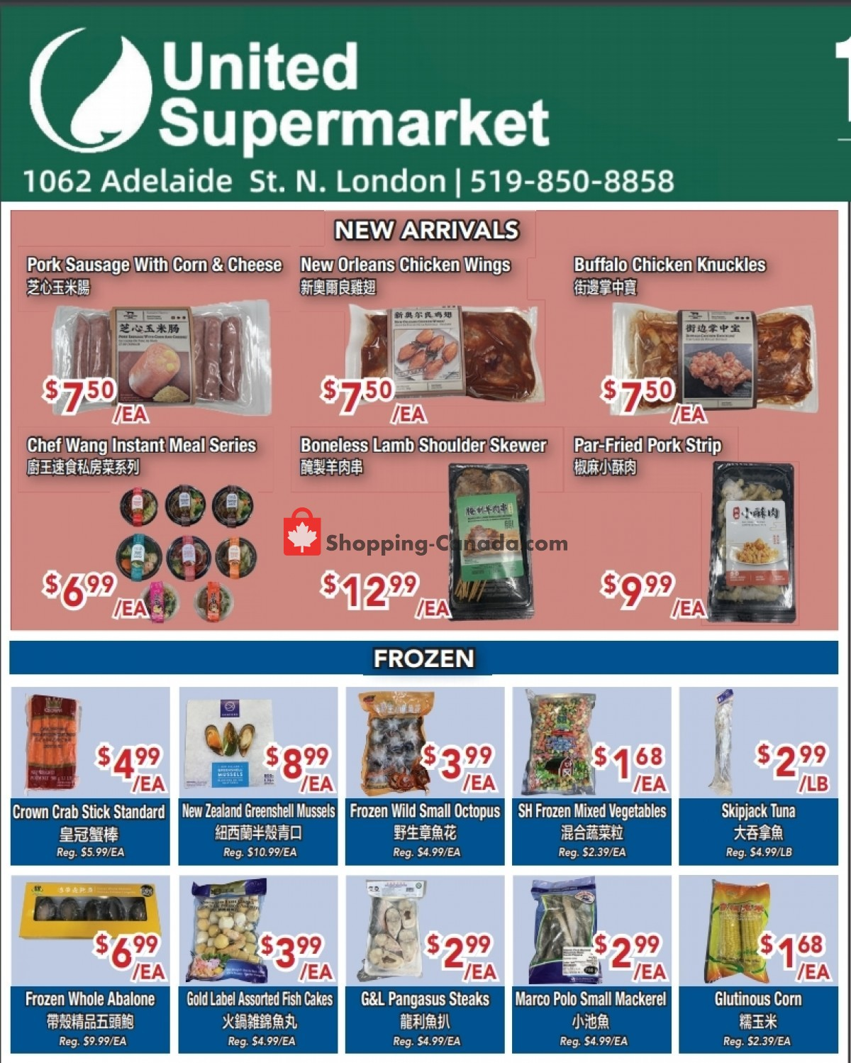 Flyer United Supermarket Canada - from Thursday April 29, 2021 to Wednesday May 5, 2021