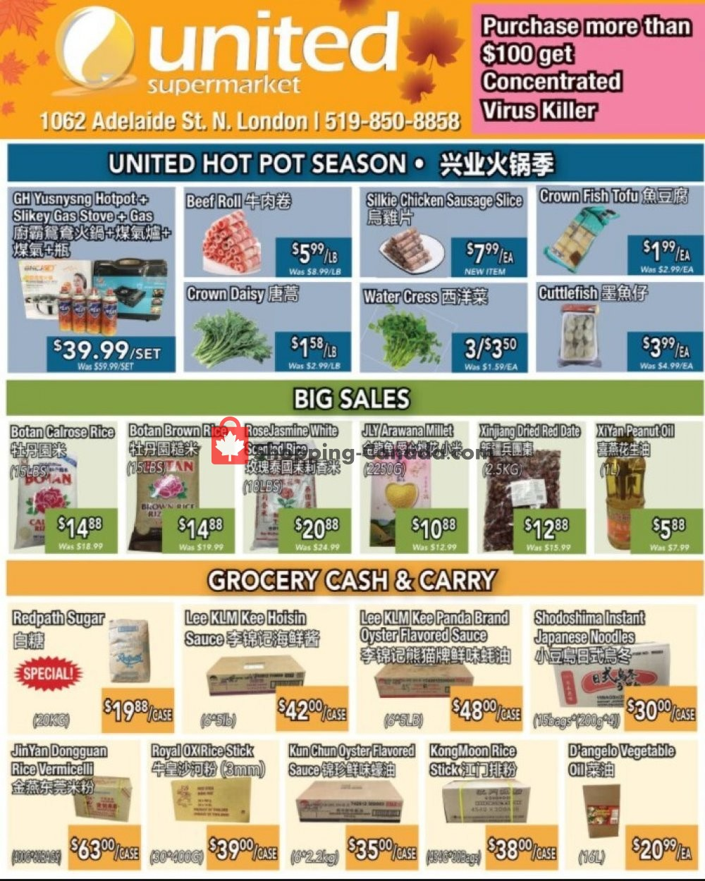 Flyer United Supermarket Canada - from Thursday October 15, 2020 to Wednesday October 21, 2020