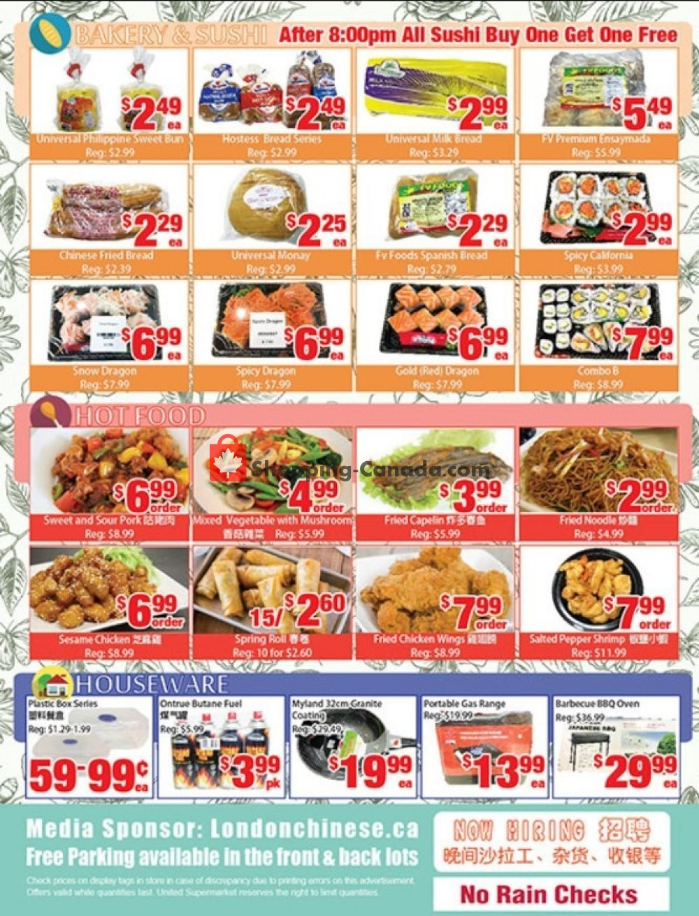 Flyer United Supermarket Canada - from Friday July 12, 2019 to Thursday July 18, 2019
