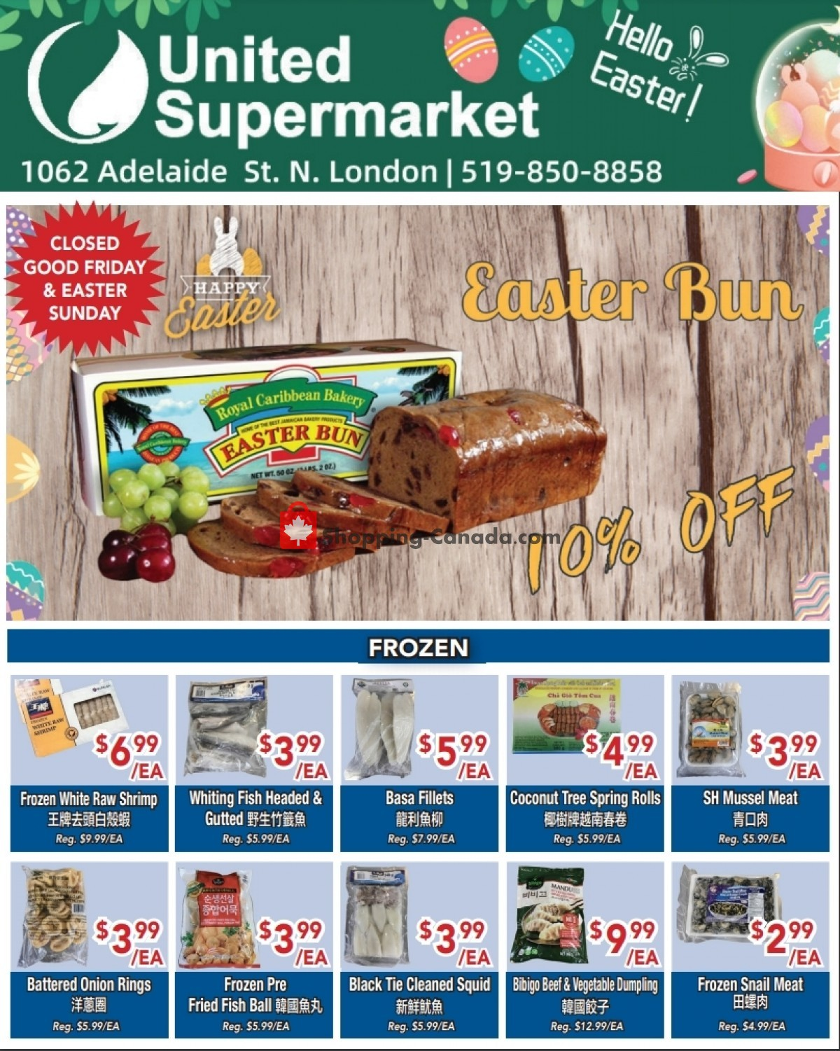 Flyer United Supermarket Canada - from Thursday April 1, 2021 to Wednesday April 7, 2021