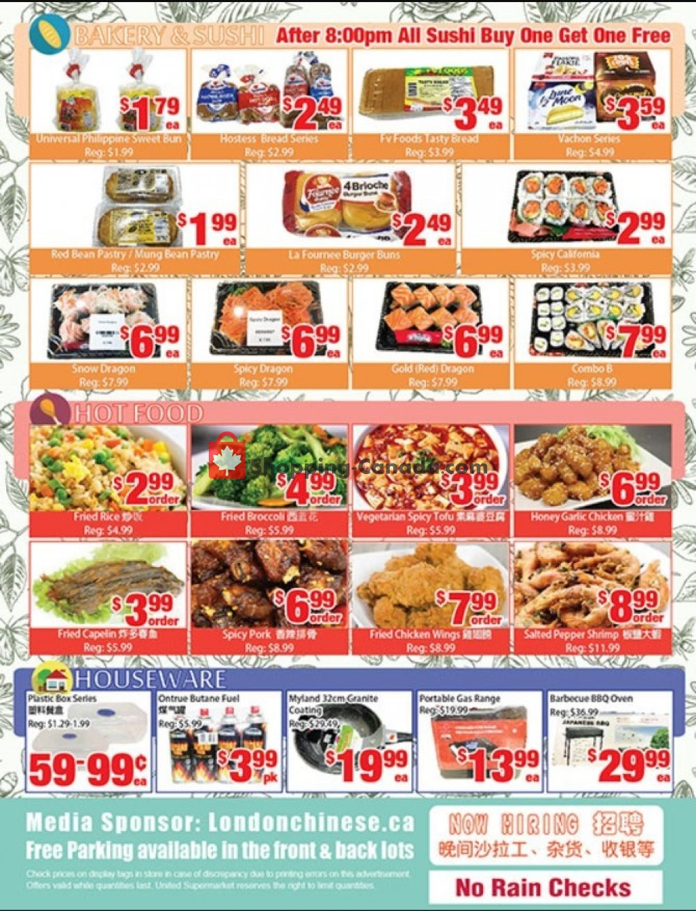 Flyer United Supermarket Canada - from Friday July 19, 2019 to Thursday July 25, 2019