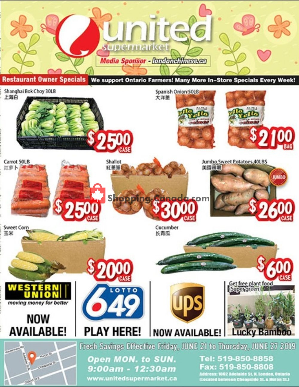 Flyer United Supermarket Canada - from Friday June 21, 2019 to Thursday June 27, 2019
