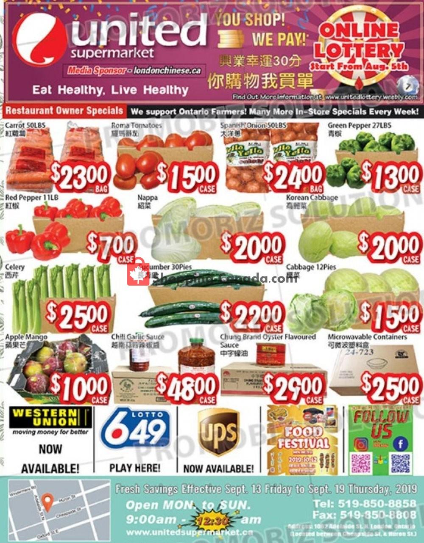 Flyer United Supermarket Canada - from Friday September 13, 2019 to Thursday September 19, 2019