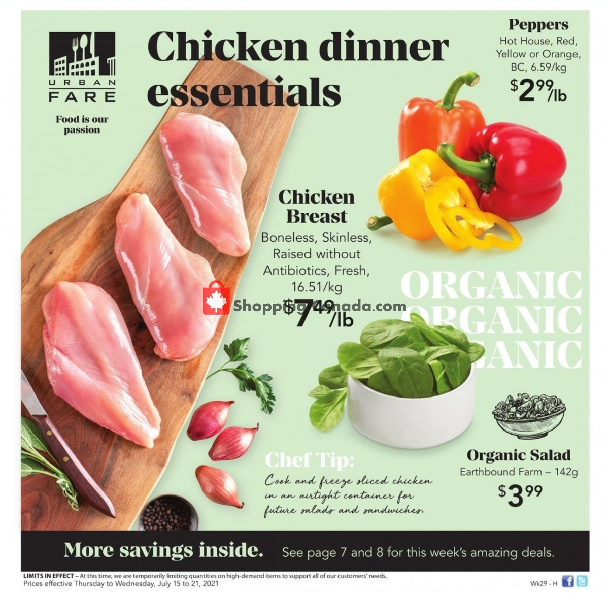 Flyer Urban Fare Canada - from Thursday July 15, 2021 to Wednesday July 21, 2021