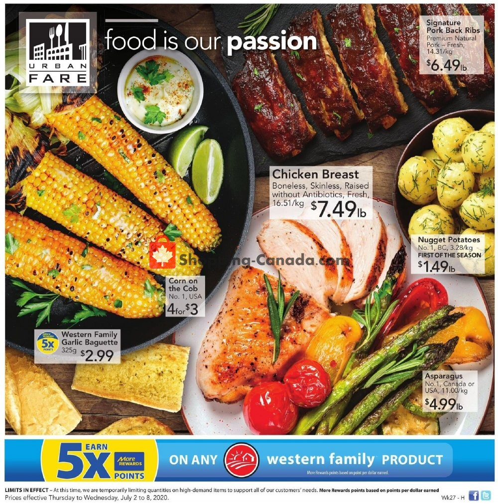 Flyer Urban Fare Canada - from Thursday July 2, 2020 to Wednesday July 8, 2020