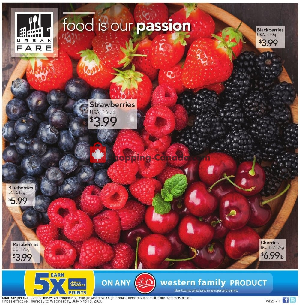 Flyer Urban Fare Canada - from Thursday July 9, 2020 to Wednesday July 15, 2020