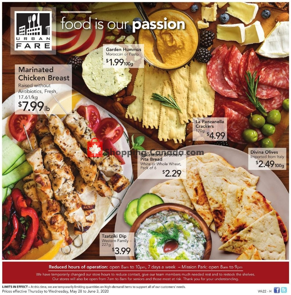 Flyer Urban Fare Canada - from Thursday May 28, 2020 to Wednesday June 3, 2020