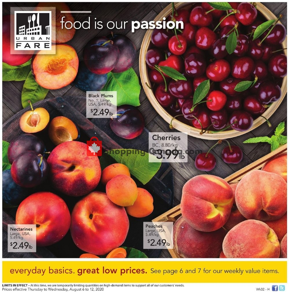 Flyer Urban Fare Canada - from Thursday August 6, 2020 to Wednesday August 12, 2020