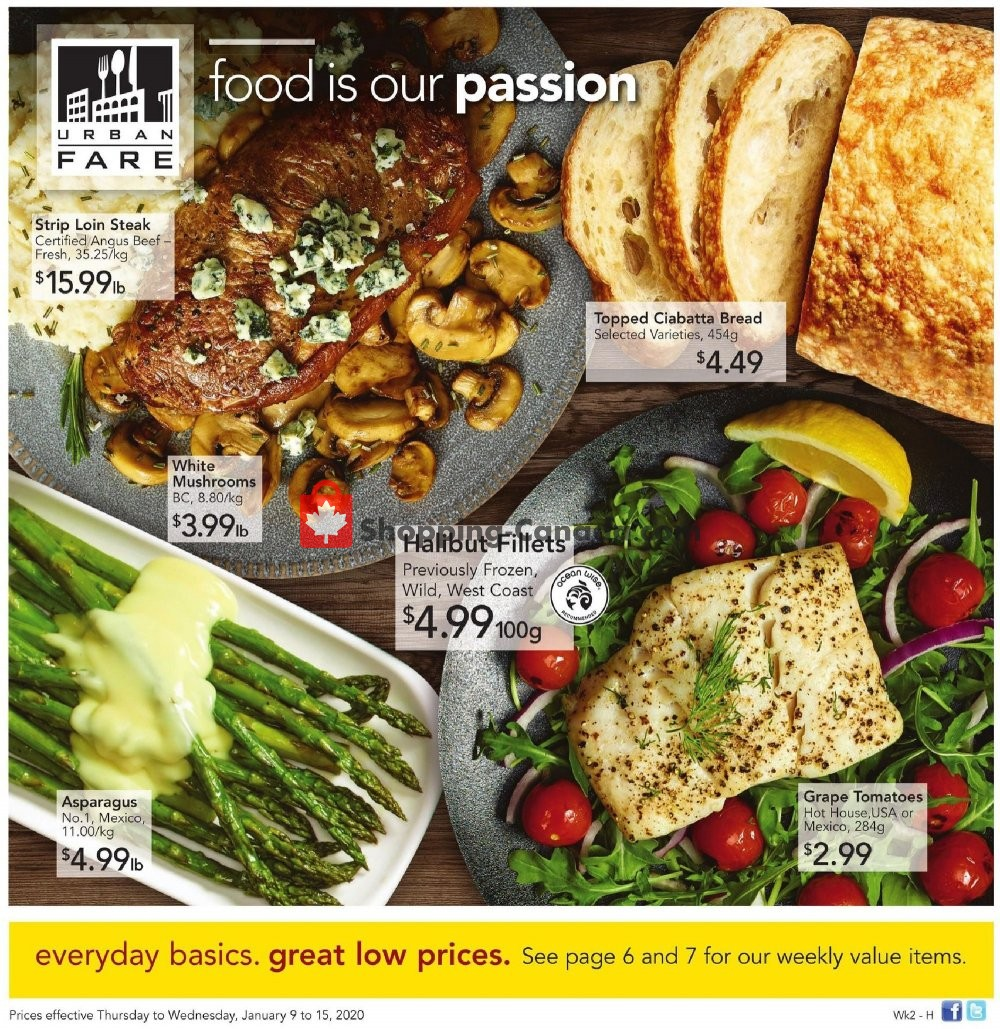 Flyer Urban Fare Canada - from Thursday January 9, 2020 to Wednesday January 15, 2020