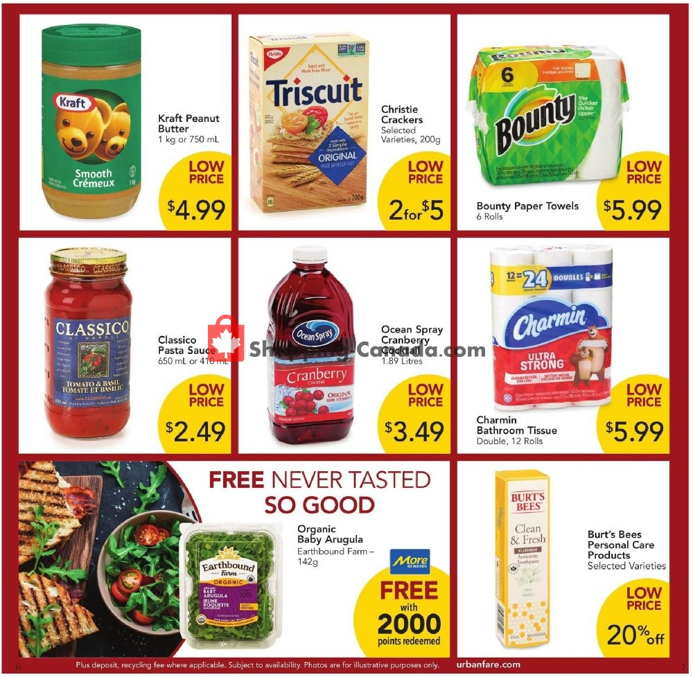 Flyer Urban Fare Canada - from Thursday November 7, 2019 to Wednesday November 13, 2019