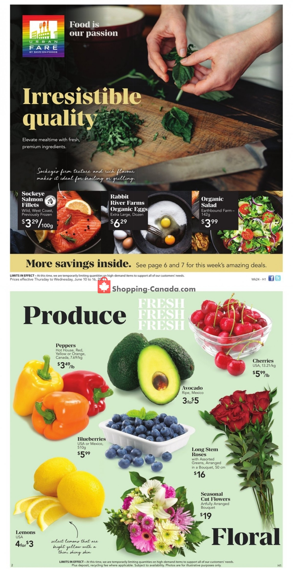 Flyer Urban Fare Canada - from Thursday June 10, 2021 to Wednesday June 16, 2021
